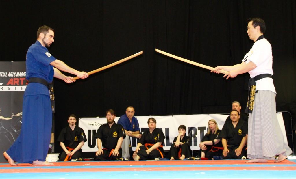 Haidong Gumdo Korean Sword Demo at UK Martial Arts Show 2016